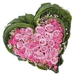 """Сердца из живых цветов коллекция """"LOVE"""""""