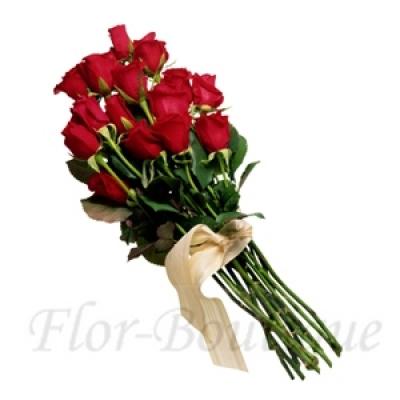 Букет из 15 красных роз (премиум)