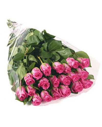 Букет из 25 розовых роз (премиум)