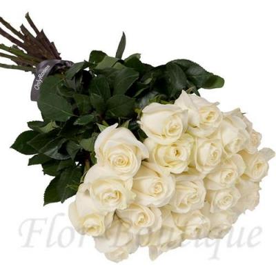 Букет из 21 белой розы (премиум)
