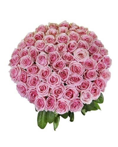 Букет из 51 розовой розы (стандарт)