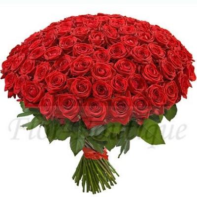 Букет из 101 красной розы (стандарт)