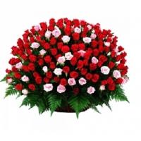 Букет из 201 розы в корзине