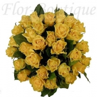 Букет из 25 желтых роз (премиум)