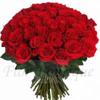 Букет из 51 красной розы (стандарт)