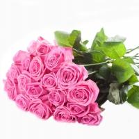 Букет из 15 розовых роз (премиум)