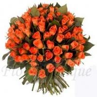 Букет из 51 оранжевой розы (премиум)