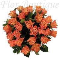 Букет из 25 оранжевых роз (премиум)
