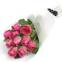 Букет из 11 розовых роз (премиум)