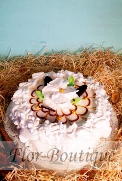 """Торт """"Жемчужина"""" творожный с персиком"""