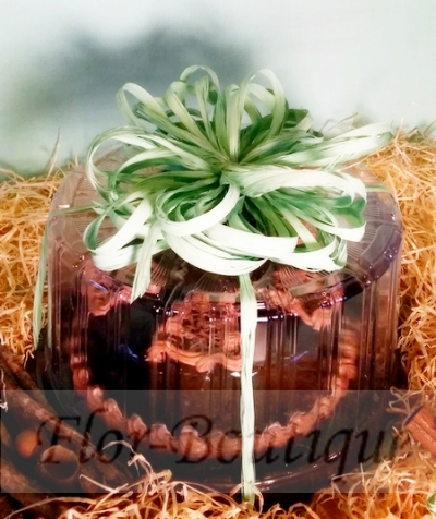 """Торт """"Леди - ночь"""" с шоколадными блинчиками, голубичной начинкой и творожным суфле"""