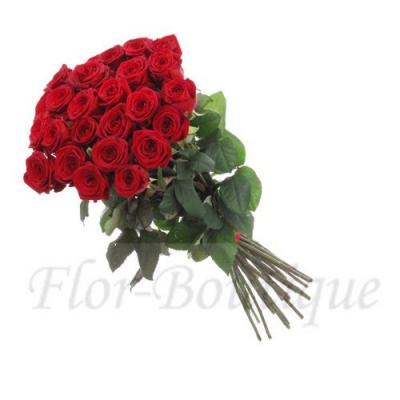 Букет из 25 красных роз 50 см