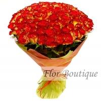 """Букет из 101 розы """"Хай Меджик"""""""