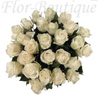 Букет из 25 белых роз 50 см