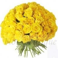 Букет из 51 желтой розы (премиум)